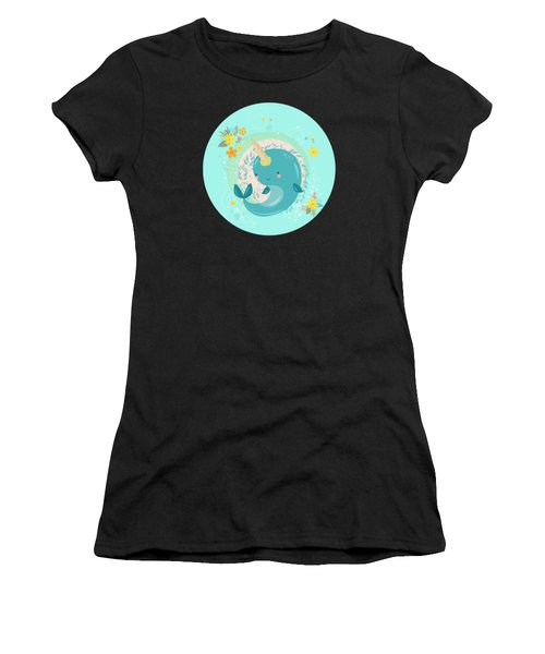 Pretty Princess Narwhal Women's T-Shirt (Athletic Fit)