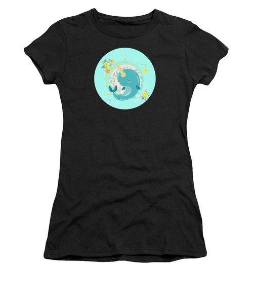 Pretty Princess Narwhal Women's T-Shirt