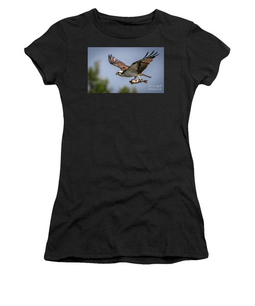 Women's T-Shirt featuring the photograph Prey In Talons by Tom Claud