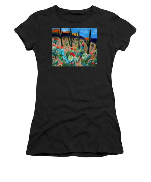Prickly Pear Cactus Tucson Women's T-Shirt