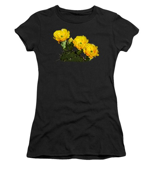 Prickly Pear Flowers H42 Women's T-Shirt