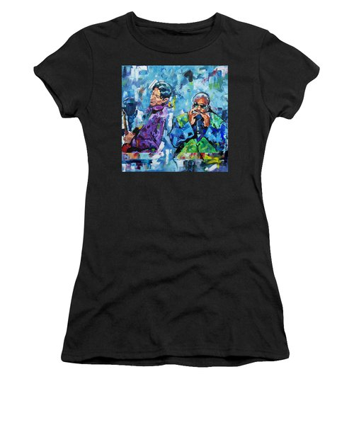 Prince And Stevie Women's T-Shirt (Athletic Fit)