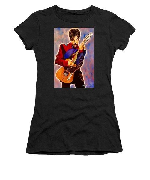 Prince Women's T-Shirt (Junior Cut) by Darryl Matthews