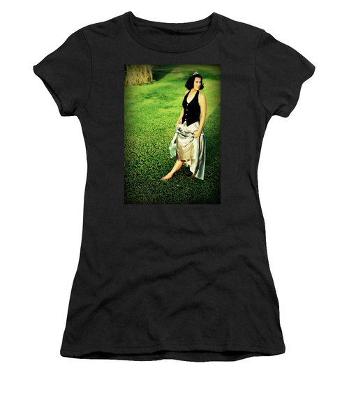 Princess Along The Grass Women's T-Shirt (Athletic Fit)