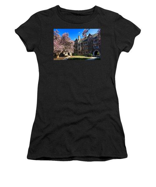Princeton University Pyne Hall Courtyard Women's T-Shirt (Athletic Fit)