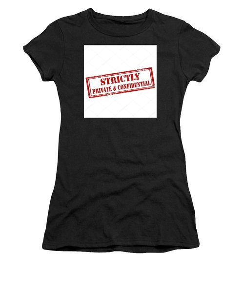 Women's T-Shirt featuring the digital art Private by John Lowe
