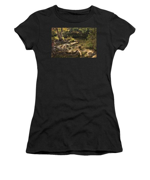 Women's T-Shirt (Junior Cut) featuring the photograph Private Retreat by Tamyra Ayles