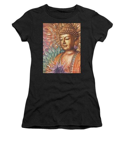 Proliferation Of Peace - Buddha Art By Christopher Beikmann Women's T-Shirt