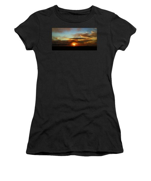 Prudhoe Bay Sunset Women's T-Shirt (Junior Cut) by Anthony Jones