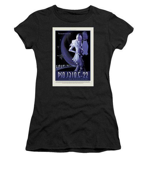 Pso J318.5-22 - Where The Nightlife Never Ends - Vintage Nasa Po Women's T-Shirt (Athletic Fit)