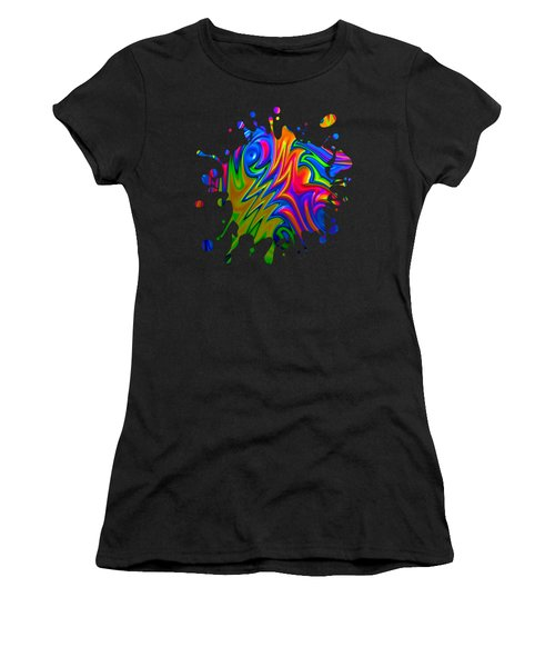 Psychedelic Rainbow Fractal Women's T-Shirt