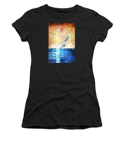 Women's T-Shirt (Junior Cut) featuring the digital art Psychotropic Rhythms by Christina Lihani