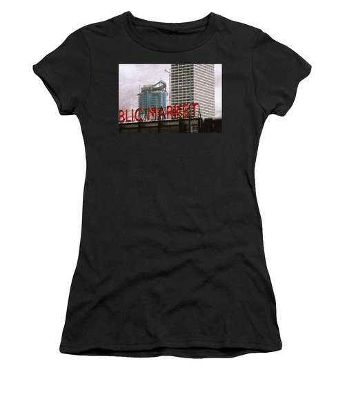 Public Market Women's T-Shirt (Junior Cut) by David Blank