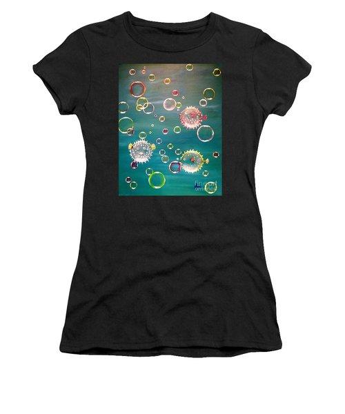 Puffer Fish Bubbles Women's T-Shirt