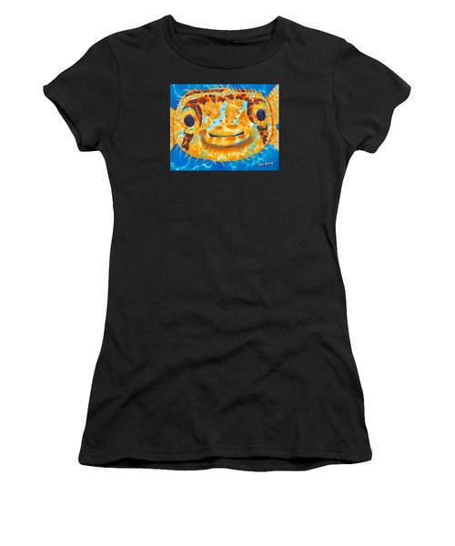 Puffer Fish Women's T-Shirt (Athletic Fit)