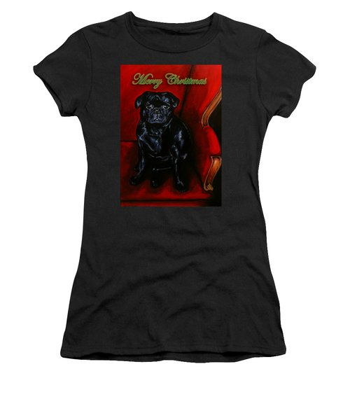 Puggsley Christmas Women's T-Shirt (Athletic Fit)