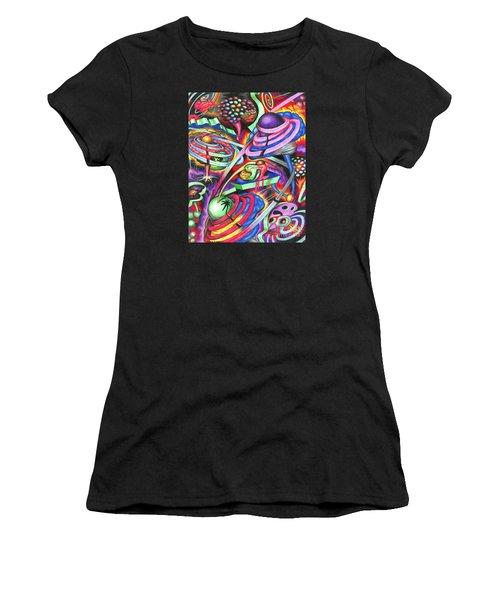 Pulsating Ripples Of Cosmic Gray Matter Women's T-Shirt