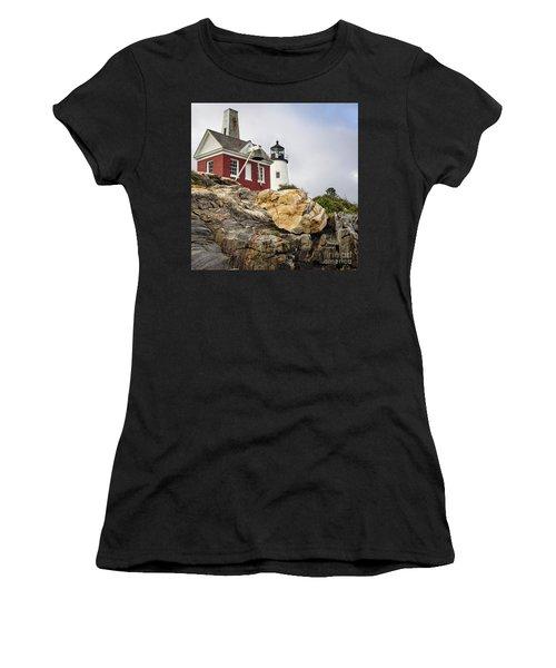Pumphouse And Tower, Pemaquid Light, Bristol, Maine  -18958 Women's T-Shirt