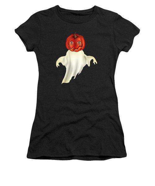 Pumpkin Headed Ghost Graphic Women's T-Shirt