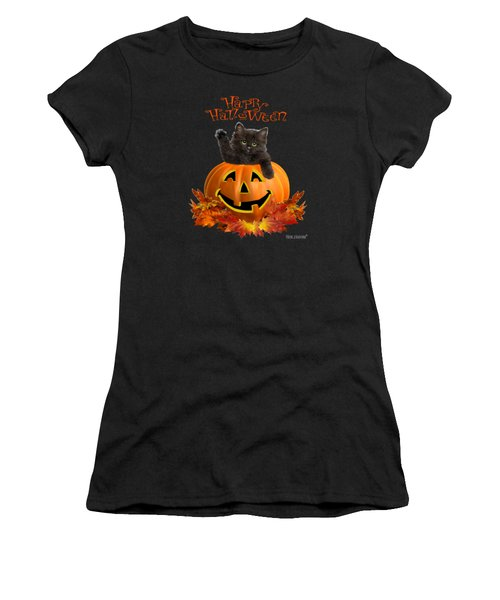 Pumpkin Kitty Women's T-Shirt (Athletic Fit)