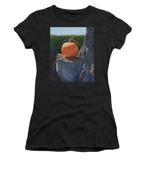 Pumpkin On A Dead Willow Women's T-Shirt