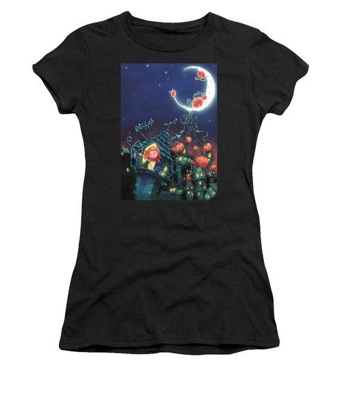 Pumpkins On The Moon Women's T-Shirt