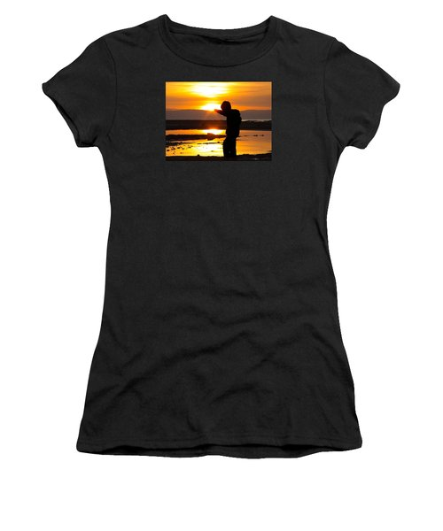 Punching The Sun Women's T-Shirt (Junior Cut) by RKAB Works