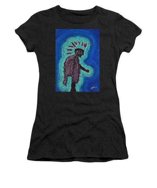 Punk Shaman Original Painting Women's T-Shirt (Athletic Fit)