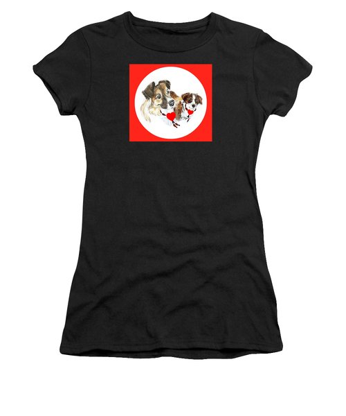 Puppy Christmas Women's T-Shirt (Athletic Fit)