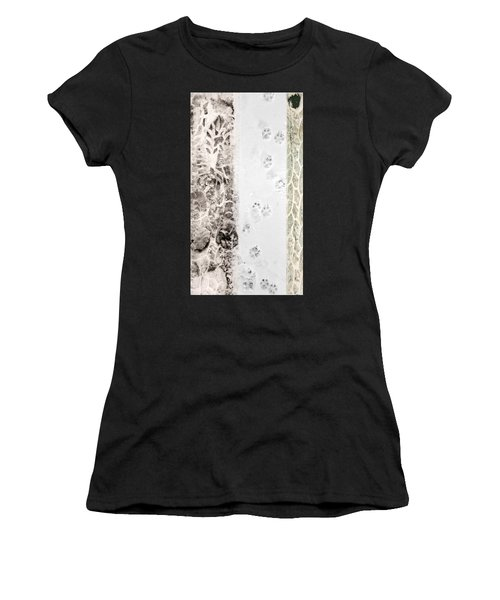 Puppy Prints In The Snow Women's T-Shirt