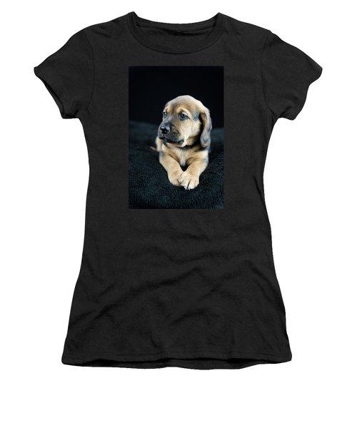 Puppy Portrait Women's T-Shirt (Athletic Fit)