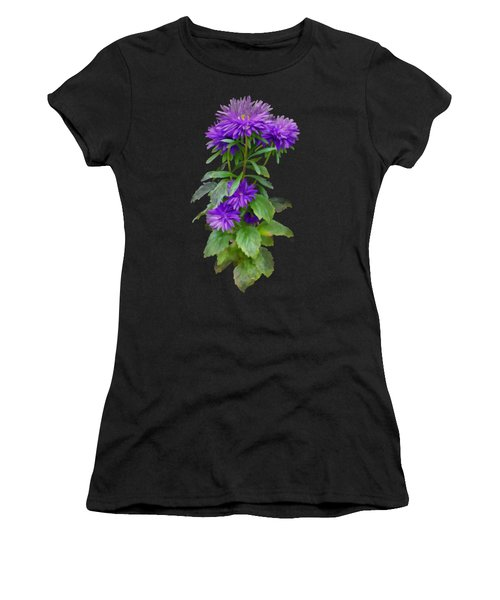 Women's T-Shirt featuring the painting Purple Aster by Ivana