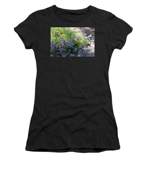 Purple Bachelor Button Flower Women's T-Shirt