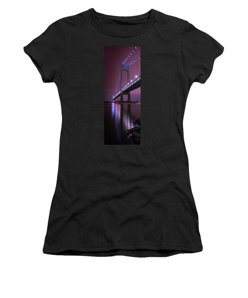 Women's T-Shirt featuring the photograph Purple Bridge by Edgars Erglis