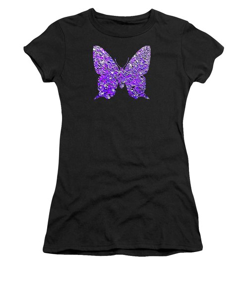 Purple Butterfly  Women's T-Shirt (Athletic Fit)