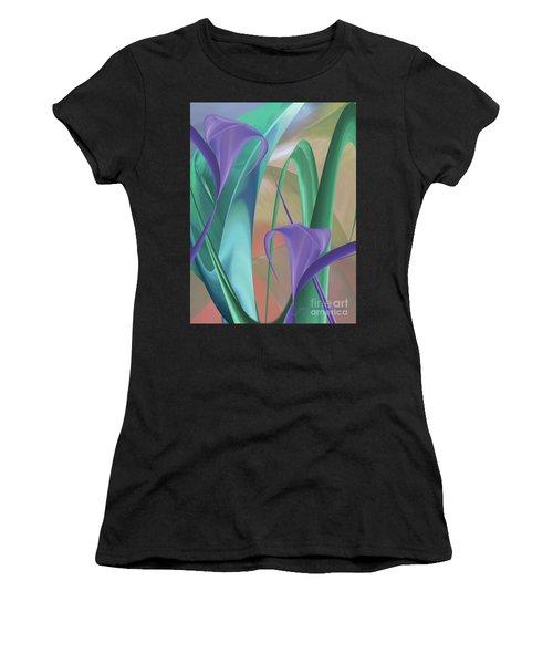 Purple Calla Lilies Women's T-Shirt (Athletic Fit)