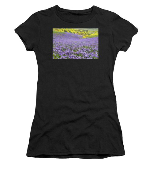 Purple  Covered Hillside Women's T-Shirt (Athletic Fit)