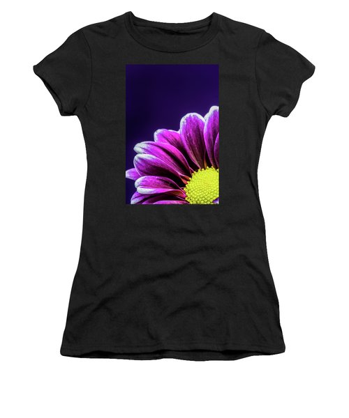 Purple Daisy Being Shy Women's T-Shirt (Athletic Fit)