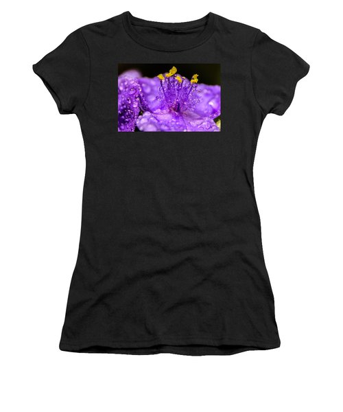 Purple Flower After The Rain Women's T-Shirt