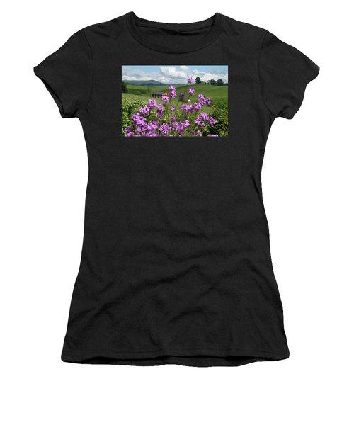 Purple Flower In Landscape Women's T-Shirt