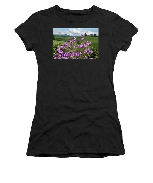 Purple Flower In Landscape Women's T-Shirt