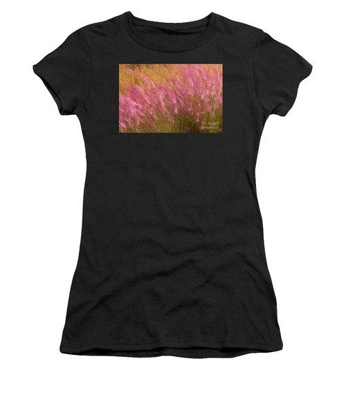 Purple Flowers Women's T-Shirt (Athletic Fit)