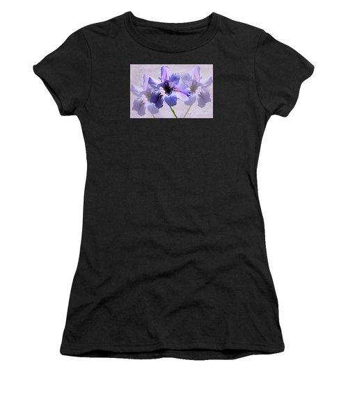 Purple Irises Women's T-Shirt (Athletic Fit)