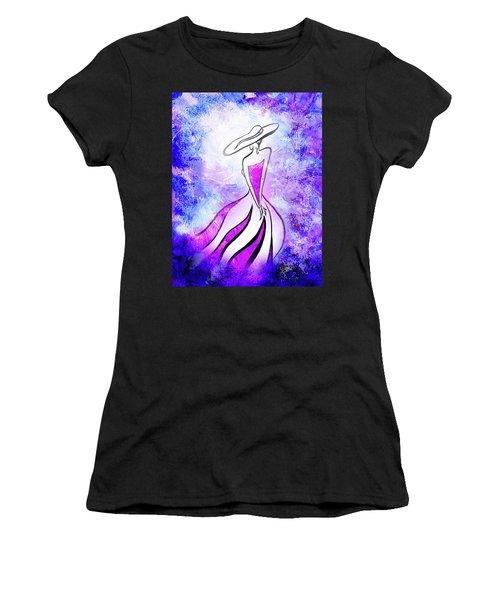 Purple Lady Charm Women's T-Shirt