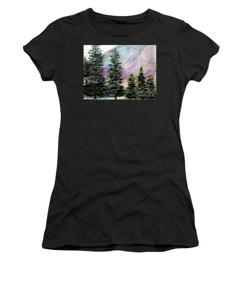 Purple Mountain Majesty Women's T-Shirt (Junior Cut) by Scott D Van Osdol