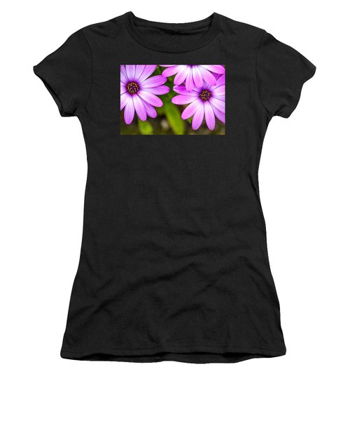 Purple Petals Women's T-Shirt (Athletic Fit)