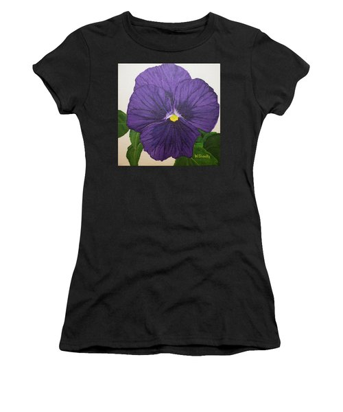 Purple Pansy Women's T-Shirt (Athletic Fit)
