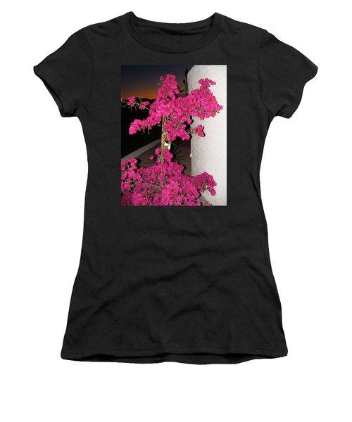 Purple Passion Against Desert Sunset Women's T-Shirt (Athletic Fit)