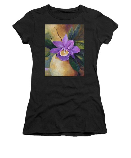 Purple Passion Orchid Women's T-Shirt (Athletic Fit)
