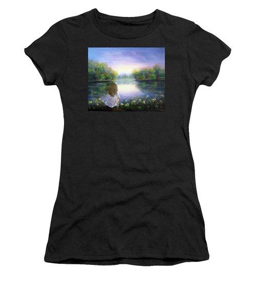 Purple Peace Women's T-Shirt (Athletic Fit)